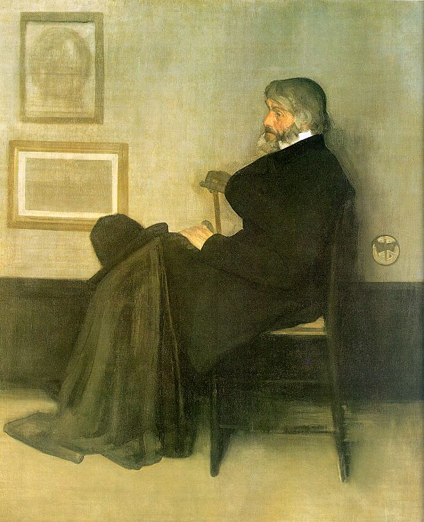James Abbott McNeil Whistler Portrait of Thomas Carlyle